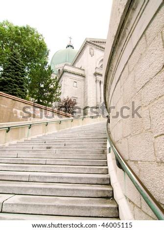 Saint Joseph's Oratory staircase - stock photo