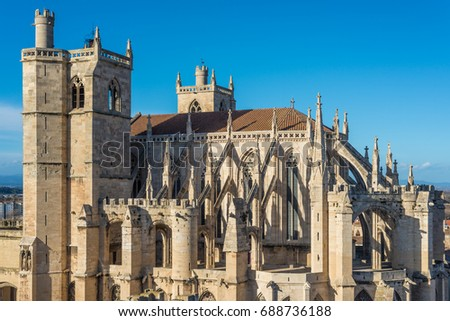 Saint Just et Saint Pasteur Cathedral in Narbonne, Languedoc-Roussillon-Midi-Pyrenees, France