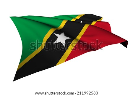 Saint Kitts and Nevis flag - collection no_5