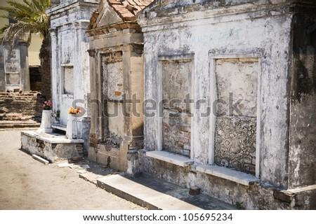 Saint Louis Cemetery No. 1, New Orleans Louisiana - stock photo