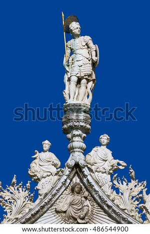 Saint Marks Basilica. Cathedral. Church Statues. Venice, Italy