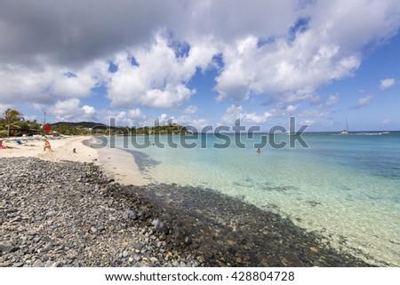 Saint Martin Beach, cliffs  - stock photo