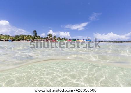 Saint Martin Beaches Underwater - stock photo