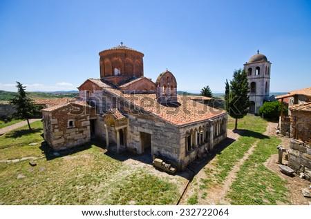 Saint Mary church in Apollonia - Albania - stock photo