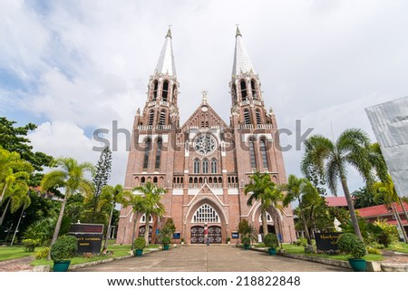 Saint Mary's church in Yangon Myanmar - stock photo