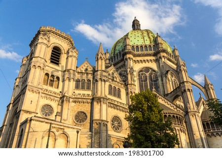 Saint Mary's Royal Church in Brussels - stock photo
