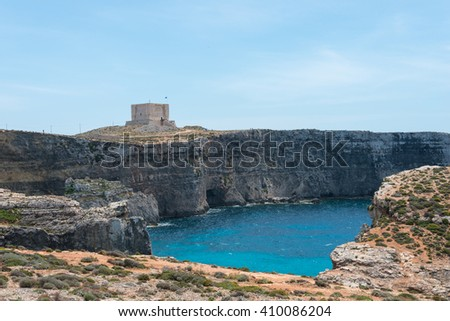 Saint Mary's Tower, also known as the Comino Tower, is a large bastioned watchtower on the island of Comino in Malta.