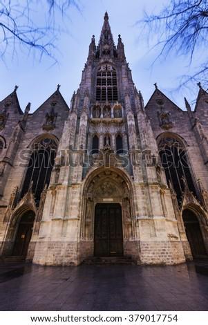 Saint-Maurice Church in Lille. Lille, Nord-Pas-de-Calais, France - stock photo