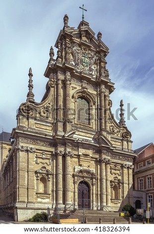 "Saint Michael's Church in Leuven is considered to be the main Jesuit church in Belgium. The impressive facade in pure baroque style is characterized as ""the altar outside the church"""
