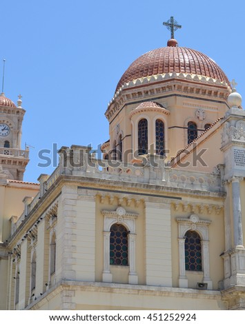 Saint Minas Cathedral in Heraklion, Crete