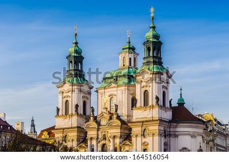 Saint Nicholas church in Prague, Czech Republic - stock photo