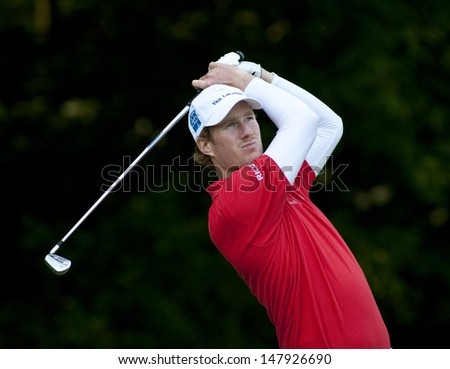 SAINT-OMER, FRANCE. 17-06-2010, Will Besseling (NED)on the first day of the European Tour, 14th Open de Saint-Omer, part of the Race to Dubai tournament and played at the AA Saint-Omer Golf Club . - stock photo