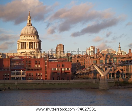 Saint Paul and London cityscape
