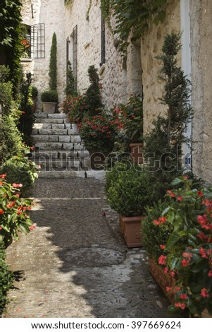 Saint-Paul-de-Vence France, beautiful street