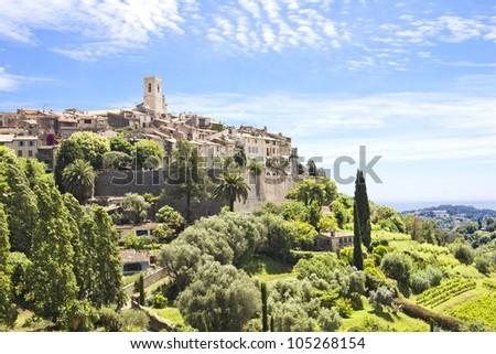 Saint Paul de Vence, south of France - stock photo