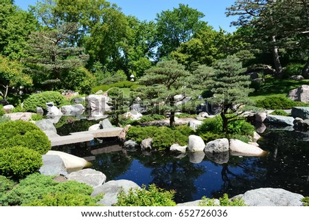 SAINT PAUL, MINNESOTA   JUNE 2017: The Japanese Garden At Como Zoo And  Conservatory