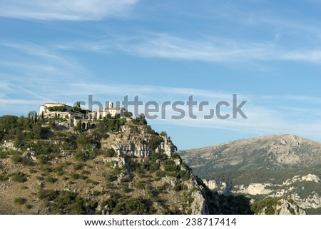 Saint-Paul or Saint-Paul de Vence is a hilltop, fortified village in Alpes-Maritimes department on the Cote d�¢??Azur in southeastern France near Nice. - stock photo