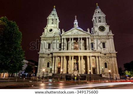 Saint Paul's Cathedral in London,UK