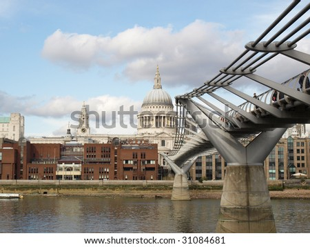Saint Paul's Cathedral in the City of London, UK - stock photo