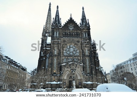 Saint Peter church in Leipzig in Germany - stock photo