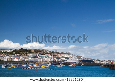 Saint Peter Port in Guernsey. - stock photo