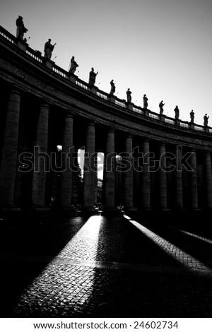 Saint Peter's Square - stock photo