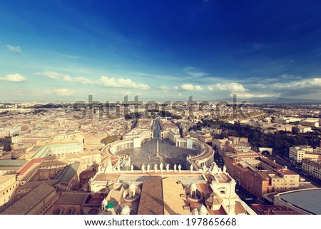 Saint Peter's Square in Vatican, Rome, Italy - stock photo