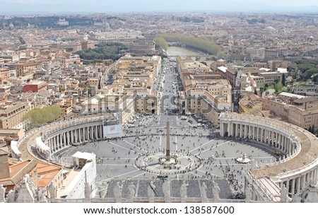 Saint Peter's Square-view from the Dome