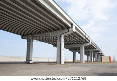 Saint Petersburg Flood Prevention Facility Complex. Ring Road - stock photo