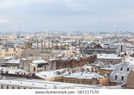 Saint-Petersburg from the colonnade of St. Isaac's Cathedral
