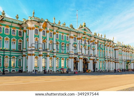 Saint Petersburg/Russia - August 01, 2015: The State Hermitage Museum  - stock photo