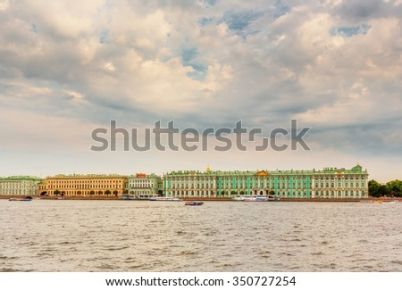 Saint Petersburg/Russia - August 06, 2015: The State Hermitage Museum  - stock photo