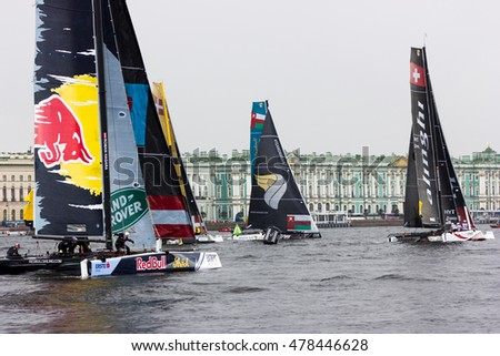 Saint-Petersburg, Russia - 04.09.2016: Fifth stage of Extreme Sailing Series