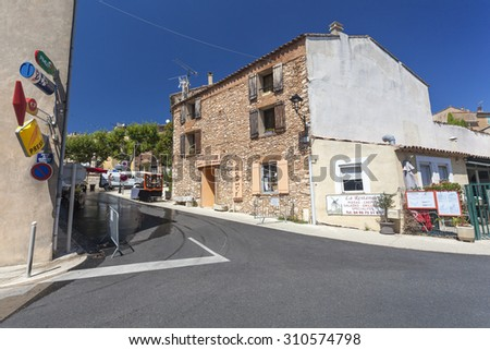 SAINT-SATURNIN-LES-APT, FRANCE - AUGUST 11, 2015: Typical house in Saint-Saturnin-les-Apt.
