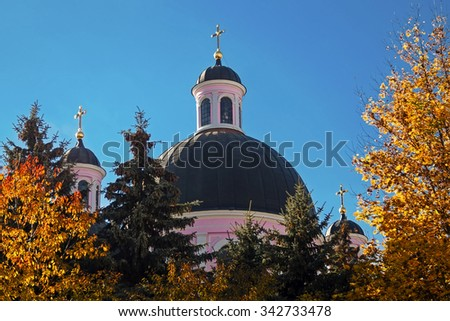 Saint Spirit Cathedral in Chernivtsi, Ukraine - stock photo