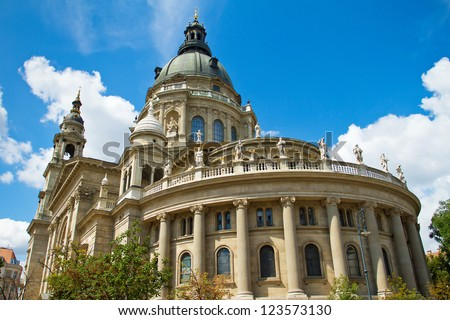 Saint Stephen's Basilica in Budapest, Hungary - stock photo