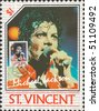 SAINT VINCENT - CIRCA 1985: Old maximum card and stamp in honor of  American pop singer Michael Jackson with inscription