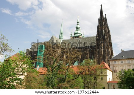 Saint Vitus cathedral and Prague castle, Czech Republic
