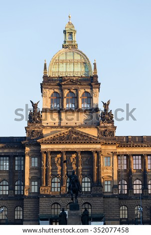 Saint Wenceslas statue on Vaclavske Namesti in Prague, Czech Republic