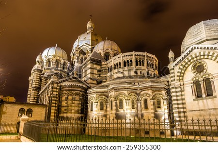 Sainte-Marie-Majeure Cathedral of Marseille - France - stock photo