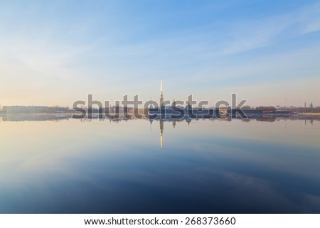 Saints Peter and Paul fortress in Saint Petersburg - stock photo