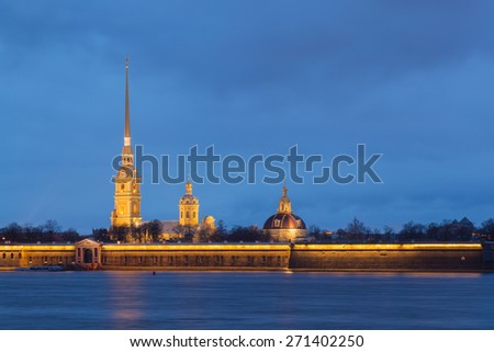 Saints Peter and Paul fortress in Saint-Petersburg, Russia - stock photo