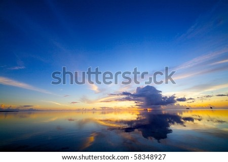 Saipan Beautiful Sunset - stock photo