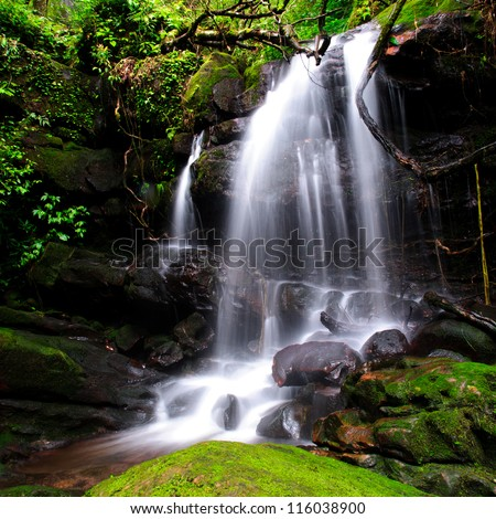saitip waterfall pusoidao thailand - stock photo
