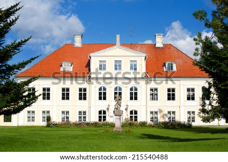 Saku manor, Estonia - stock photo