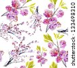 sakura flowers. seamless pattern - stock photo