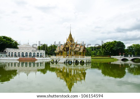 Sala Thai is Thai architecture in Bang Pa-in Palace, Ayutthaya, Thailand.