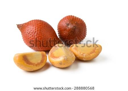 salacca fruit on white background - stock photo