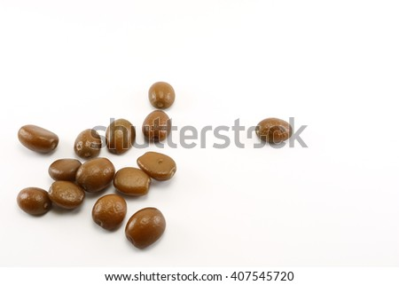 salacca or zalacca seed on white background