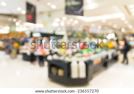salad bar store blur with bokeh background - stock photo